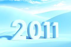 Stock Illustration of new year 2011