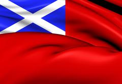 Scottish red ensign Stock Illustration
