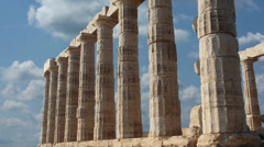 Timelapse of Sounion Temple Poseidon Stock Footage