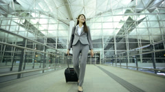 Female Asian Chinese Airport Flight Passenger Business Corporate Meeting Stock Footage