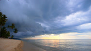 Stock Video Footage of Dark Storm Clouds over Palm Beach.