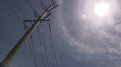 Sun with halo around it also known as a sundog Stock Footage