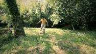 Stock Video Footage of little boy running with the ball playing football: soccer, outdoor, children,