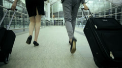 Females Ethnic Airport Flight Passenger Business Corporate Meeting - stock footage