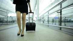 Asian Chinese Corporate Female Airport Global Business Travel Executive - stock footage