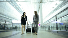Female Asian Chinese Airport Flight Passengers Business Corporate Meeting - stock footage