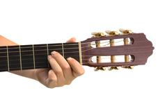 Hand and guitar - stock photo