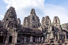 Bayon temple in angkor thom, cambodia Stock Photos