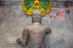 buddha statue in angkor wat,cambodia - stock photo