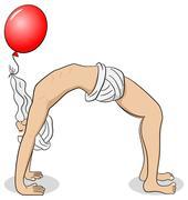 Yogi who practices yoga Stock Illustration