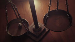 Old bench scale Stock Footage