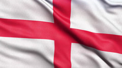 4K Flag of England seamless loop Stock Footage