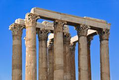 Temple of Zeus at Athens, Greece Stock Photos