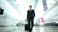 Asian Chinese Corporate Male Airport Global Business Travel Executive - stock footage