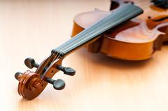 Music concept with violin Stock Photos