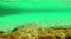 Play of sun  light under water Stock Footage