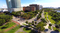 Aerial video Coconut Grove - stock footage