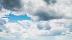 sky with thunderclouds, timelapse - stock footage