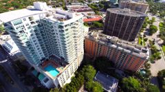 Aerial video footage of Coconut Grove 2 Stock Footage