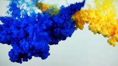 Stock Video Footage of Colorful ink splash in underwater