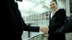 Multi Ethnic Business Male Female Airport Travel Destination Meeting Stock Footage