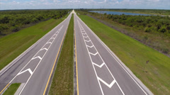 Aerial video I75 Off-ramp Stock Footage