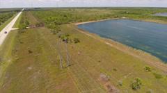 Aerial video footage Florida manmade Lake Stock Footage