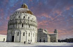 Baptistery in Piazza dei Miracoli, Pisa Stock Photos