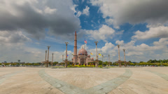 Timelapse of Putrajaya on a hot day with dancing clouds Stock Footage