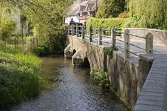 River Darent at Shoreham. Kent. England. - stock photo