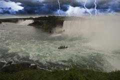 Storm approaching Niagara Falls, Canada Stock Photos