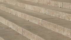 Stock video footage people go down the marble stairs in slow motion Stock Footage