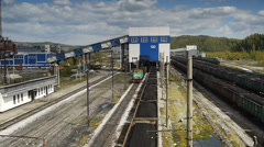 Stock video footage Coal loaded in the train Stock Footage