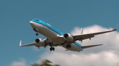 KLM Flight Landing - stock footage