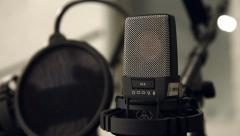 Condenser Microphone Close-Up Stock Footage