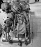 Alien Puppets in Rachel, Nevada Stock Photos