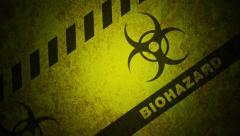 Biohazard Looping Background Stock Footage
