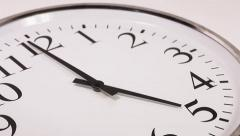 Clock Face Time Lapse Stock Footage