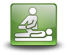 Stock Illustration of icon, button, pictogram physical therapy