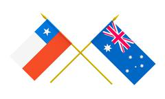 Flags, australia and chile Stock Illustration