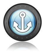 icon, button, pictogram marina - stock illustration