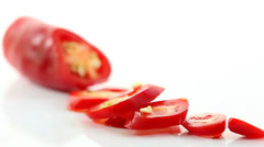 Chopped Chillies Stock Footage