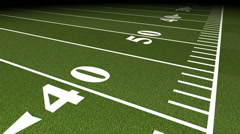 Football Field Touchline Tracking Shot Stock Footage