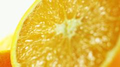 Orange Fruit Close Up Stock Footage