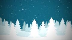 Snowy Christmas Tree Scene Stock Footage