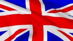 Flag of united kingdom of great britain Stock Illustration