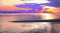 Girl Running against Fantastic Sunset. Slow Motion. Footage