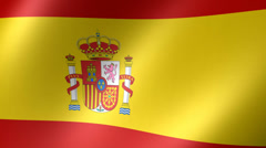 Stock Video Footage of Spanish Flag Background Seamless Loop