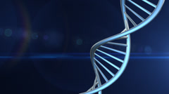 DNA Strand Rotating with Copy Space Looping Stock Footage