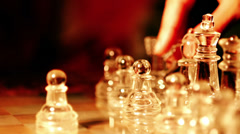 moving knight on the chessboard: chess, move, play, game - stock footage